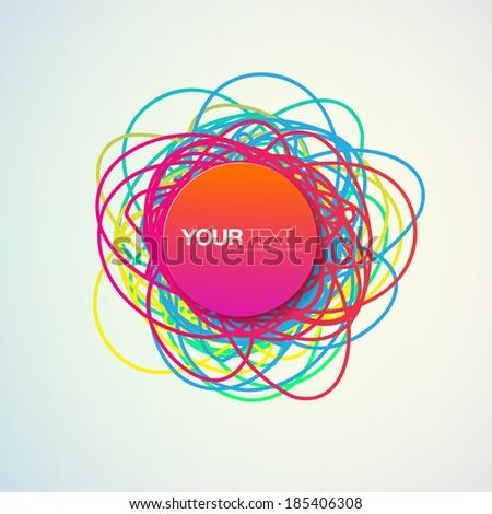 Abstract colorful text bubble design with your text  Eps 10 stock vector illustration  - stock vector