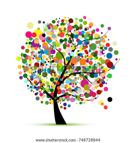 Abstract colorful tree for your design