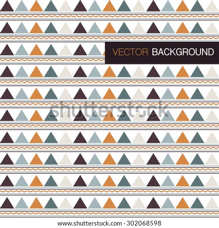 Abstract colorful triangle background  - stock vector