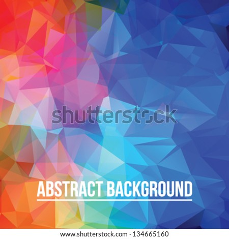 Abstract colorful triangle background for design - stock vector