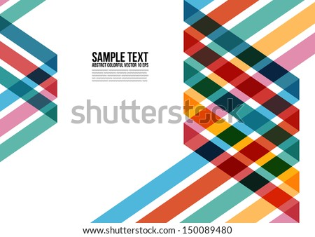 Abstract Colorful Triangle Pattern.  Background , Cover , Layout - stock vector