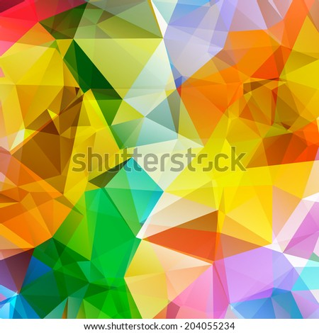 Abstract Colorful Triangle Polygonal vector background - stock vector