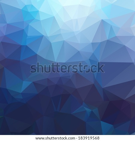 Abstract colorful triangles background for your business. Vector - stock vector