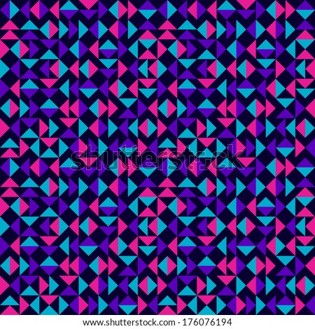 Abstract Colorful Triangles Pattern - stock vector