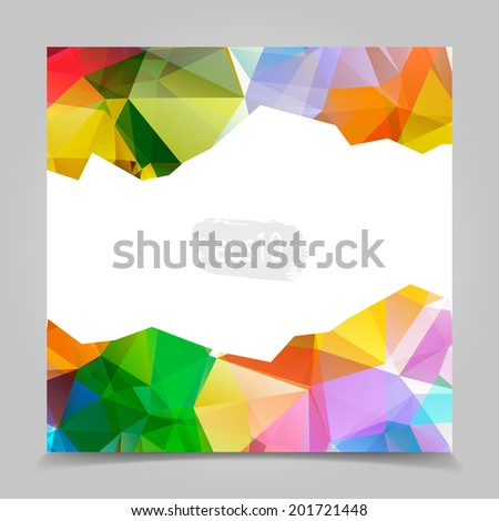 Abstract Colorful Triangular Polygonal geometric background - stock vector