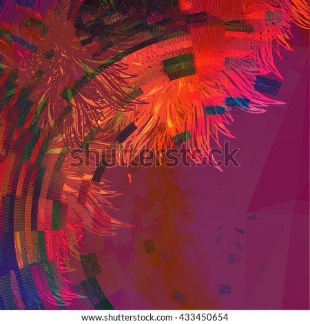 Abstract colorful vector background.