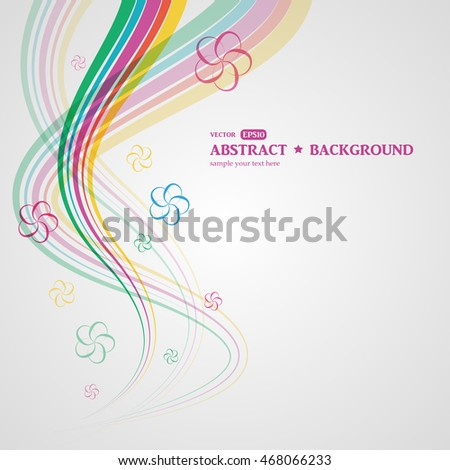 Abstract colorful vector background. Floral elements