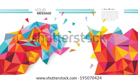 Abstract colorful vector background for your desing. - stock vector