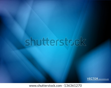 abstract colorful vector background with blue triangles - stock vector