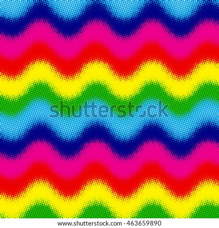 Abstract colorful vector background with halftone effect