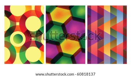 Abstract colorful vector backgrounds