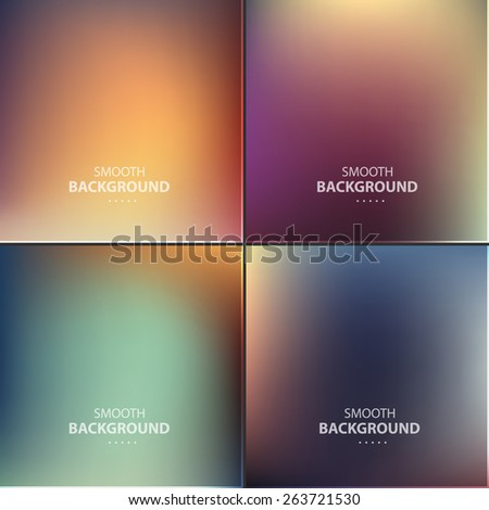Abstract colorful vector blurred, smooth backgrounds. - stock vector