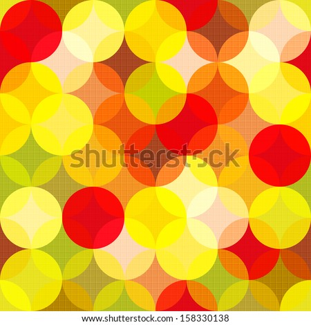 Abstract colorful vector pattern. Multicolor circles background. - stock vector
