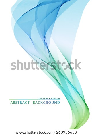Abstract colorful vector smoke background - stock vector