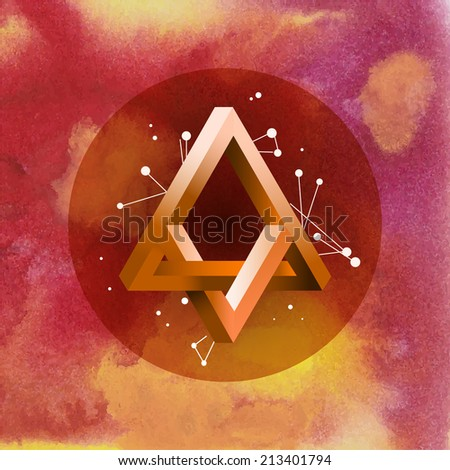 Abstract colorful vector template background. Made in the technique of watercolor graphics - stock vector