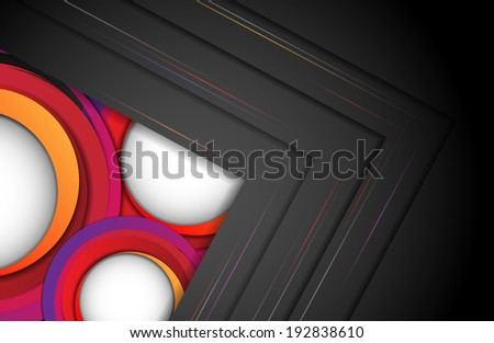 Abstract colorful vector template with copy space. Eps10 - stock vector