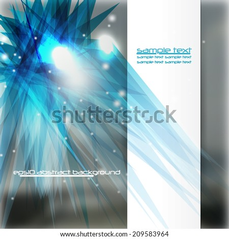 Abstract colorful vector template with elegant background - eps10 - stock vector