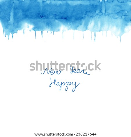 Abstract colorful watercolor wet on wet paper. Hand drawn aqua color vector background texture. - stock vector