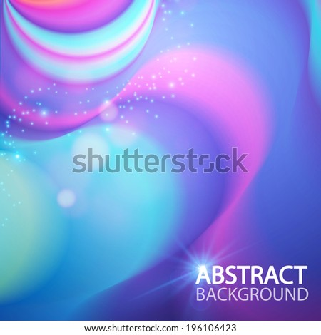 Abstract colorful wave background. Vector illustration