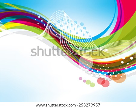 abstract colorful wave background with arrow Vector illustration