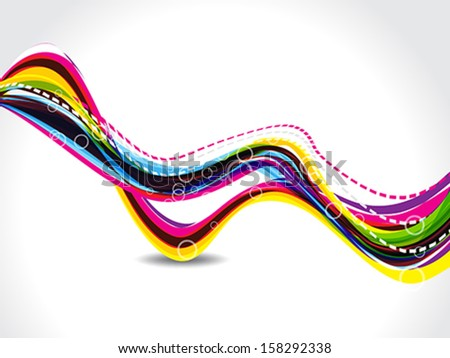 abstract colorful wave background with bubbles