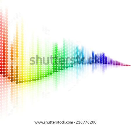 Abstract colorful wave form background. - stock vector