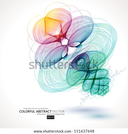 Abstract colorful wave . Vector illustration for your business presentations. EPS10. - stock vector