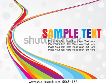 abstract colorful wave with gray background1 vector illustration