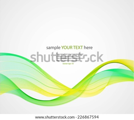 Abstract colorful waves on gray background - stock vector