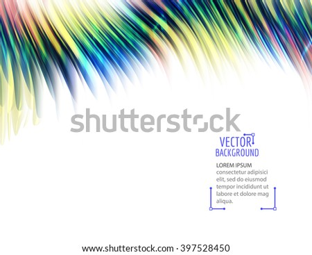 Abstract colorful waves on white background. Shiny bright curves background. With space for text. - stock vector