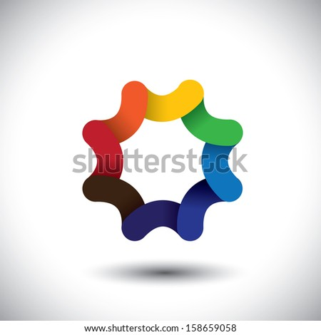 Abstract colorful wavy floral pattern in unusual bright colors. Element for design. Vector graphic on white background.  - stock vector