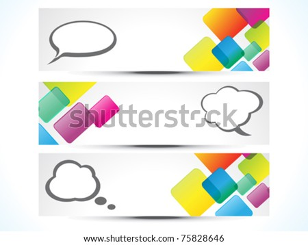 abstract colorful web banners vector illustration