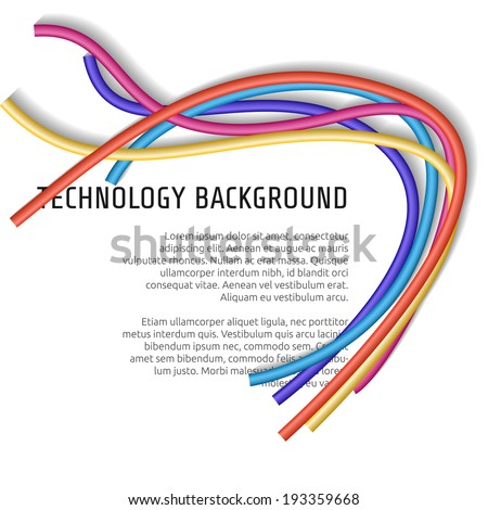 Abstract colorful wire background. Vector illustration. - stock vector