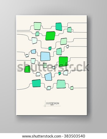 Abstract colour background with square shapes.Vector illustration.