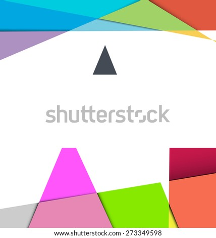 Abstract colour full Triangle Geometrical Background,Abstract colour full inner shadow polygon shape,Vector Illustration