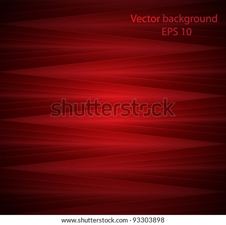 Abstract colourful background from a red glass mosaic - stock vector