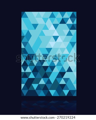 abstract colourful triangle background - stock vector