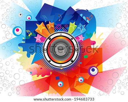 Abstract Colurful Musical Background Vector illustration
