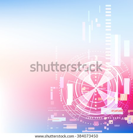 abstract communication digital technology background, vector illustration