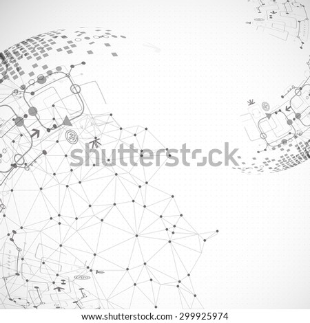 Abstract communication technology light design background. Vector - stock vector