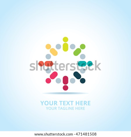 Abstract Community logo, design concept, emblem, logotype element for template.