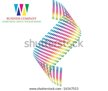 abstract company page with curved lines and gradients