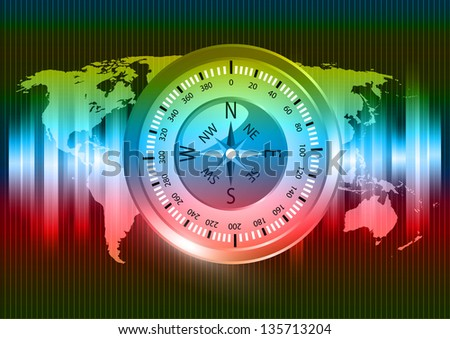 abstract compass background vector eps 10