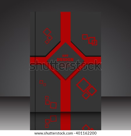 Abstract composition A4 brochure background eps10 vector illustration 10 - stock vector