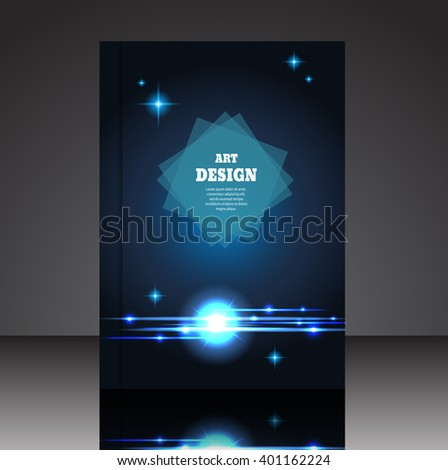 Abstract composition A4 brochure background eps10 vector illustration 23 - stock vector