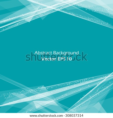 Abstract composition, azure space background with horizontal text place, laser rays light, skyline, cosmic theme, EPS 10 vector illustration  - stock vector
