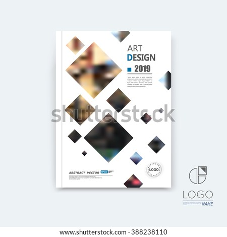 Abstract composition, black quadrate font texture, square part construction, white a4 brochure title sheet, creative tetragon figure icon, commercial logo surface, firm banner form, EPS10 flier fiber - stock vector