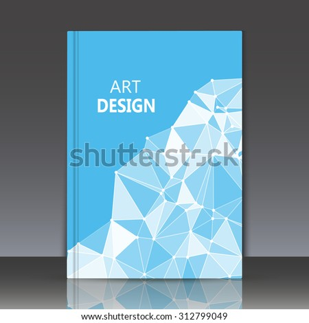 Abstract Composition Blue Color Polygonal Triangle Stock Vector ...