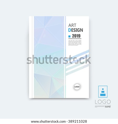 Abstract composition, blue sky polygonal stripe font texture, band part construction, white a4 brochure title sheet, creative figure icon, commercial logo surface, firm banner form, EPS 10 flier fiber - stock vector