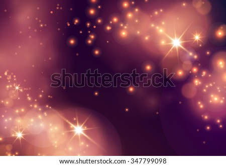 Abstract composition, business card font frame backdrop, luster sheen, shiny dots flare, Christmas cracker, visual sun bubble flash, bronze circle radiance icon, glow figure, glory EPS10 illustration - stock vector